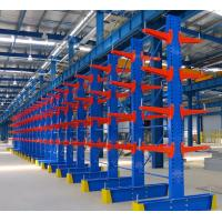 China Powder Coated Double Side Cantilever Storage Rack Customized For Warehouse on sale