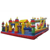China Giant Tiger Commercial Inflatable Bouncer And Slide For Children 18x10m on sale