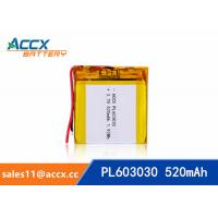 Quality 603030 3.7v 520mah lithium polymer battery for bluetooth speaker with PCM protection wholesale