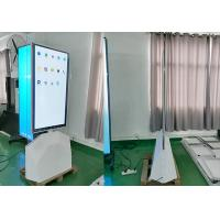 """Quality 55""""OLED single sided floor standing kiosk with another side mirror digital signage wholesale"""