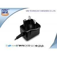 Quality Black Color 12v 1A Wall Mount Power Adapter / Supply With 1 Year Warranty wholesale