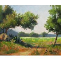 Quality landscape painting tree painting house painting wholesale