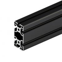 Quality 6063 Black Anodized High Quality Aluminium Alloy Extrusion Factory Supply Industrial Heat Sink wholesale
