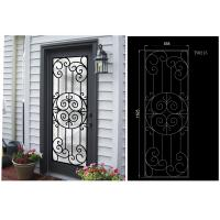 Quality Most Durable Agon Filled Wrought Iron Glass Doors 22*64 inch Size Shaped Crafted wholesale