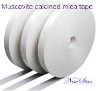 China Fiberglass Fabric High Temperature Mica Tape White Fire-Resistant Muscovite on sale