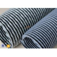 """Quality 6"""" Grey PVC Coated Fiberglass Fabric Flexible Air Duct For Fume Extraction wholesale"""