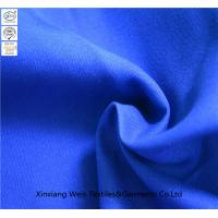 China Royal Blue Plain Fire Retardant Fabric / Flame Resistant Textiles Light Weight on sale