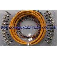 Quality 0.9mm Distribution Fan Out Fiber Optic Patch Cord 12Core for Telecom and Datacom wholesale