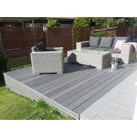 Cheap grey composite decking for private yard and garden for Grey composite decking