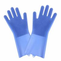 Quality Non-slip Design New Fancy Multifunctional Scrubber Cleaning Glove 100% Food Grade Silicone Rubber Sponge Brush with five fingers wholesale