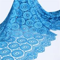 Quality Indian Embroidery Patterns Blue Guipure Chemical Cord Lace Fabric For Nigerian With Stones wholesale