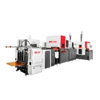 China This Fully-Automatic Rigid Box Making Machine Produce the top boxes and the buttom boxes at the same time saving space on sale