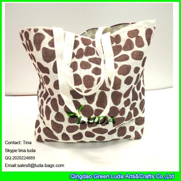 Cheap Luda Scarolina Herrera Handbags Leopart Print Paper