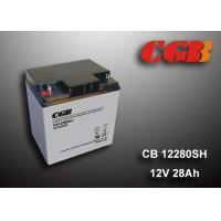Quality 12V 28AH Energy Storage Battery , AGM Valve Non Spillable Lead Acid Battery wholesale