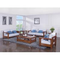 Cheap High end quality 1+2+3 Solid wood Leisure sofa set by Fabric and density sponge for sale