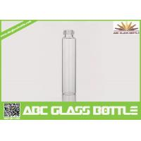 Cheap 10ml Long Thin Custom Made Clear Perfume Glass Bottle With Screw Cap for sale
