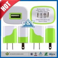 China Iphone 6 Plus Universal USB Power Adapter , Us Plug Usb Wall Travel Charger on sale