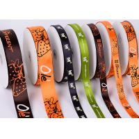 Quality White Custom Printed Ribbon Eco Friendly Soft Thin Attractive Look Polyester wholesale
