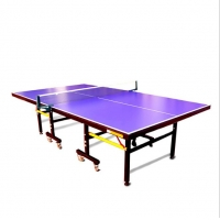 China 9ft Professional Table Tennis Table Cheap Standard Size Folded Portable Table Tennis Table on sale