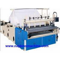 Quality Recycled Toilet Paper Making Machine With Color Printing And Rewinding Machine wholesale