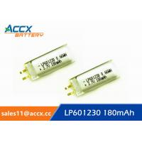 Quality 601230pl 601230 3.7v 180mAh li-polymer battery for bluetooth headset, messager wholesale