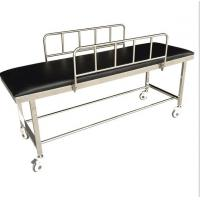 Quality Patient Transport Stretchers / Ambulance Trolley Bed With Side Rails And PU Foam wholesale