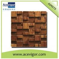 Quality Unique wood mosaic wall tiles for indoor decoration wholesale