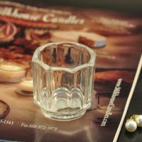 Quality Big octagon design candle holder glass replacement , 57ml candle holders glass decor wholesale