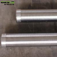China Continuous Slot Water Well Screen Pipe Wire Wrapped High Pressure Resistant on sale