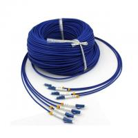 Quality Military Tactical 4 Strand Fiber Optic Cable 200m Single Mode LC Armored wholesale