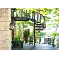 China Exterior Space Saving Spiral Staircase , Decorative Spiral Staircase No Welding on sale
