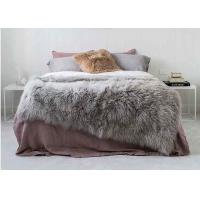 Quality 4' X 6' Tibetan Mongolian Large Rectangular Sheepskin Rug Soft For Bed Covers wholesale