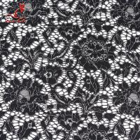 Quality African French Nylon Lace Fabric For Garment Light Color Fastness wholesale