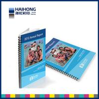Quality A4 Spiral Bound Book Printing  glossy surface finish with 350gsm coated art paper wholesale
