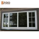 Quality Black Aluminium Fabrication Sliding Hurricane Impact Safe Windows For Home Protect aluminum materials sliding window wholesale