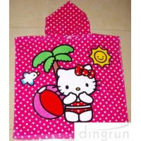 Quality Full Reactive Printing Personalized Hooded Poncho Towels Azo Free wholesale