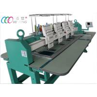 Quality 4 Heads Computerised Flat Bed Embroidery Machine , 110V / 220V wholesale