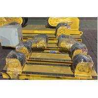 Quality PU Wheels 20 Ton Welding Turning Rolls Adjust By Manual Screw For Vessel for sale