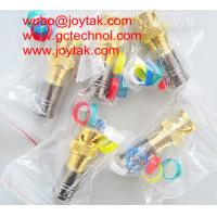 BNC Coaxial Connector BNC male Compression connector gold plated 50ohm for RG6
