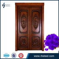 Quality leffeck high end 100% plain wood double doors - Custom Made wholesale