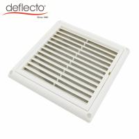 China Outdoor Plastic HVAC Air Vent Anti UV 5 Inch 125mm Vent Cover With Nylon Mesh on sale