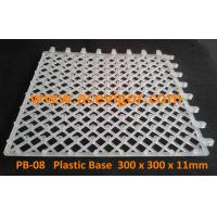 Quality PB-08 White Plastic Base for WPC deck tiles wholesale