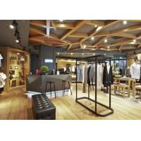 Cheap Casual Style Men Clothing Store Fixtures / Store Display Furniture For Retail Shop for sale