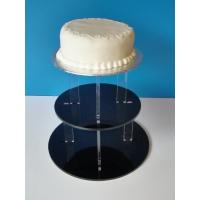 Quality 3-Tier Acrylic Bakery Display Case , 5mm thick weddingcake Display Stand Rack wholesale