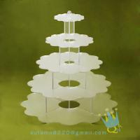 Quality CD (94) 5 tier acrylic wedding cake stands wholesale