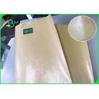 Quality Greaseproof Brown Single And Double Side Food Grade PE Coated Paper For Fast Food wholesale