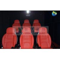Quality Black Mobile 5D Cinema Track Box 6 Seats Inside With 4 Wheels wholesale