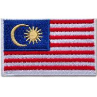 Quality Stick-on, 50-80mm, 100% cotton national embroidered flag patches, hot cut border wholesale