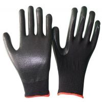 Buy cheap OEM working gloves foam nitrile Glove knit wrist of size S, M, L, XL of China supplier from wholesalers