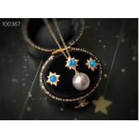 Quality Australian Opal Pendant Necklace Round 18K Rose Gold Seawater Pearl Jewelry wholesale